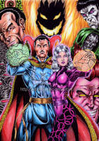 Doctor Strange colored by kiborgalexic