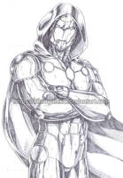 Infamous Iron Man pencil by kiborgalexic