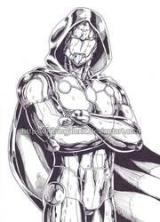 Infamous Iron Man ink by kiborgalexic