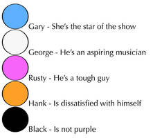 A Girl Named Gary - characters by Emezie