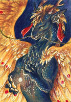 The Heart of Autumn ACEO by Sulka
