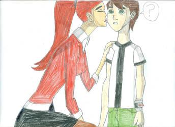 Gwen kisses young Ben by lukio5000