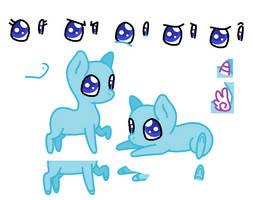 Chibi Pony BASE by BlizzardIceFox