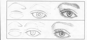 how to draw an eye 2 by cutiedani21