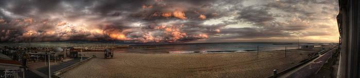 A nice evening on the beach by John-Genova