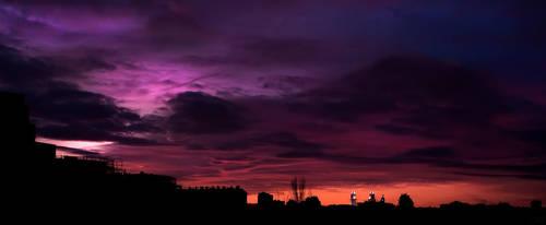 Purple sky by John-Genova