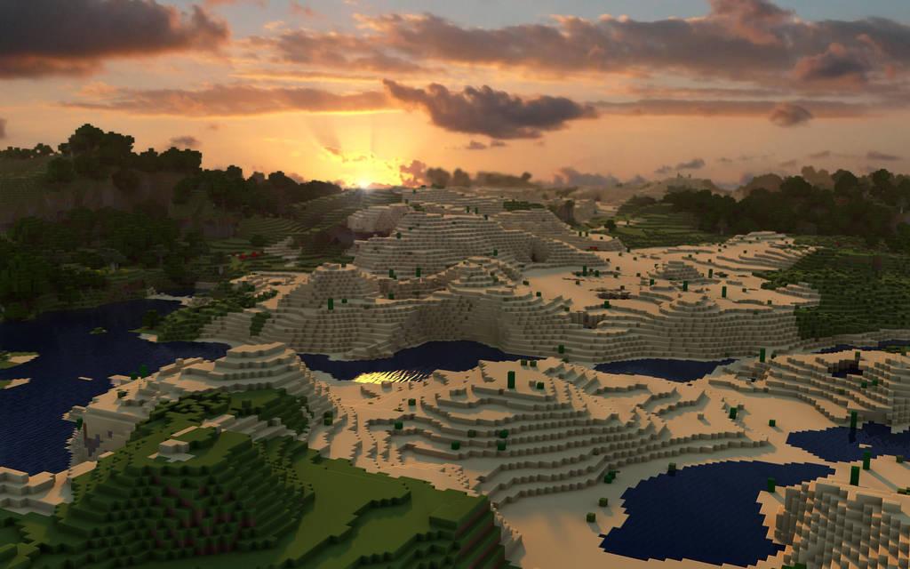 Minecraft Sunset by Shikijiyu