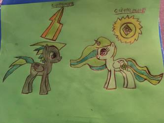 Princess Solara and her father Swiftbolt! by SuperGrape1