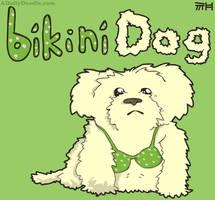Bikini Dog by yellowbouncyball