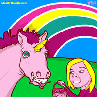Kaelin feeding the Unicorn... by yellowbouncyball