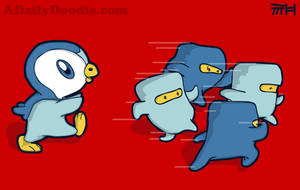 Killer Penguin ::Piplup:: by yellowbouncyball