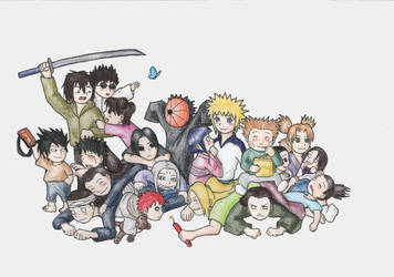 Naruto Dogpile -Chibi Version- by Huudel