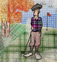 The Golfer by JorgenGedeon