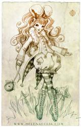 White Rabbit in Wonderland Sketch by Ecija