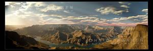 Grand Canyon Panorama by johnwarren