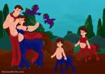 Jayko and his Centaur family by Jayko-15