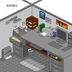 Office Cubicle by bonesvt