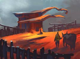 Desert encounter by parkurtommo