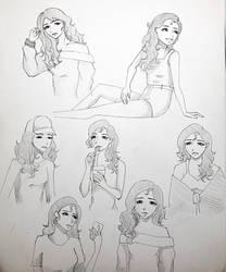 Sketch page by Disheveledpastels