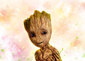 Baby Groot by p1xer