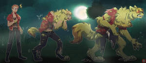 Green Moon [Werewolf TF Sequence] [Commish] by DatKitsu