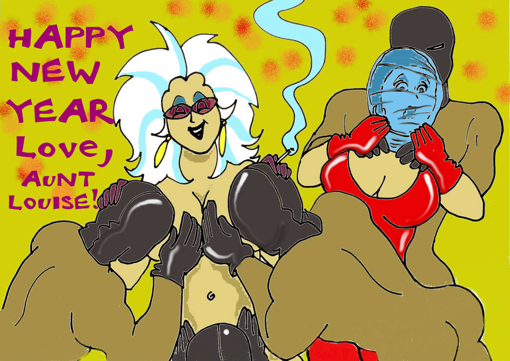 Happy New Year From Aunt Louise! by skyraidernimrod2