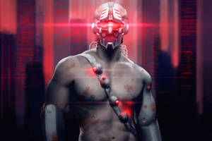 Cyborg dude by werur