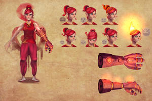 fire lady by werur