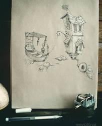 Boatman's Burrow by eskitenekekutu