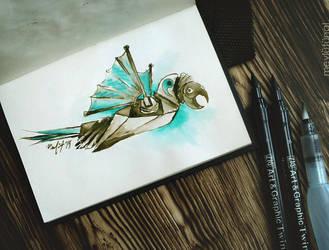 Wind-up Bird by eskitenekekutu