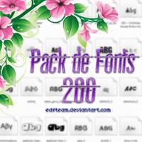 +Pack De Fonts|+200. by EDFTeam