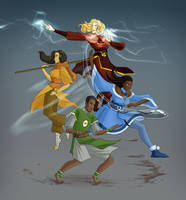 The Avatar Squad by Lunar-Graphite