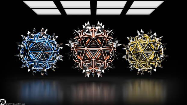 Spiky Spheres (4k) by Dario999