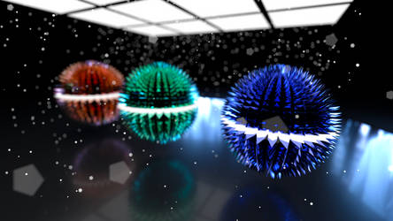 Spiked Spheres V2 (4k) by Dario999