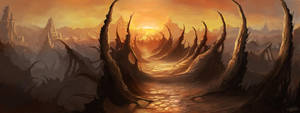 Alien Landscape v2 by Wanski