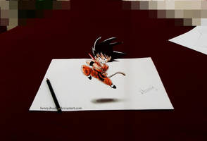 Kid Goku ( 3D ) by HenryDradye