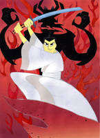 Samurai Jack and Aku by timacs