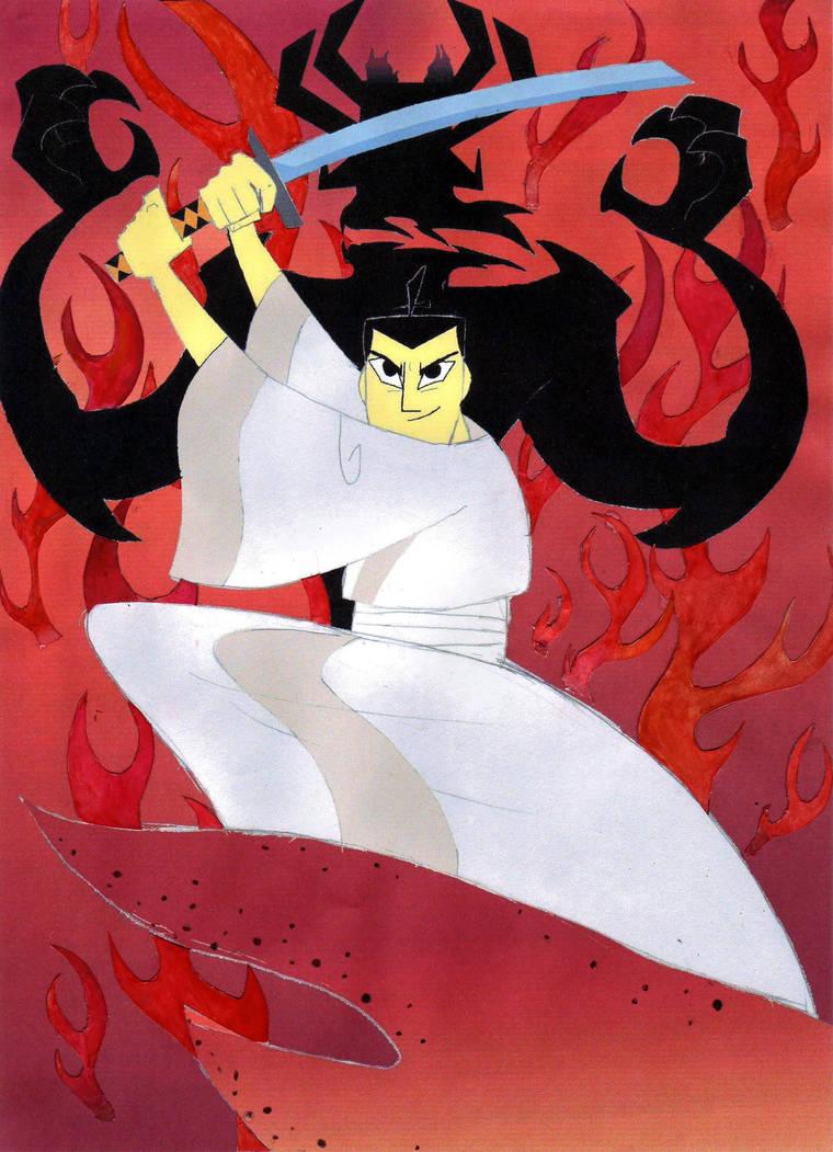 Samurai Jack and Aku by timacs