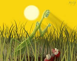 Brushing Mantis by Marcotonio-desu