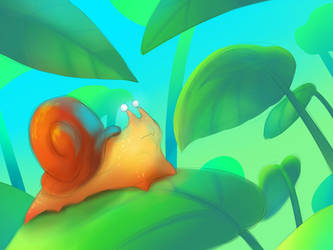 Snail - Color Study by Marcotonio-desu