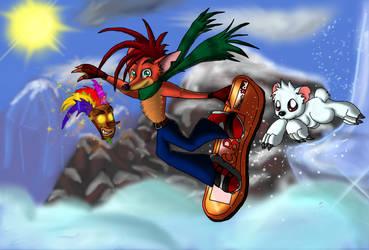Crash B. - Snowboarding by pikachu-25