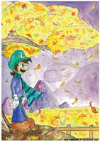 Luigi - Autumn of loneliness by pikachu-25