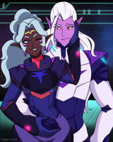 Lotura Au - Empress Allura x Paladin Lotor + color by Rumay-Chian