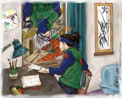 WOLFY - Kakashi in the window by mangacat