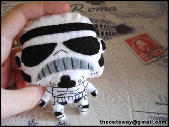 .: StormTrooper plushie :. by SaMtRoNiKa