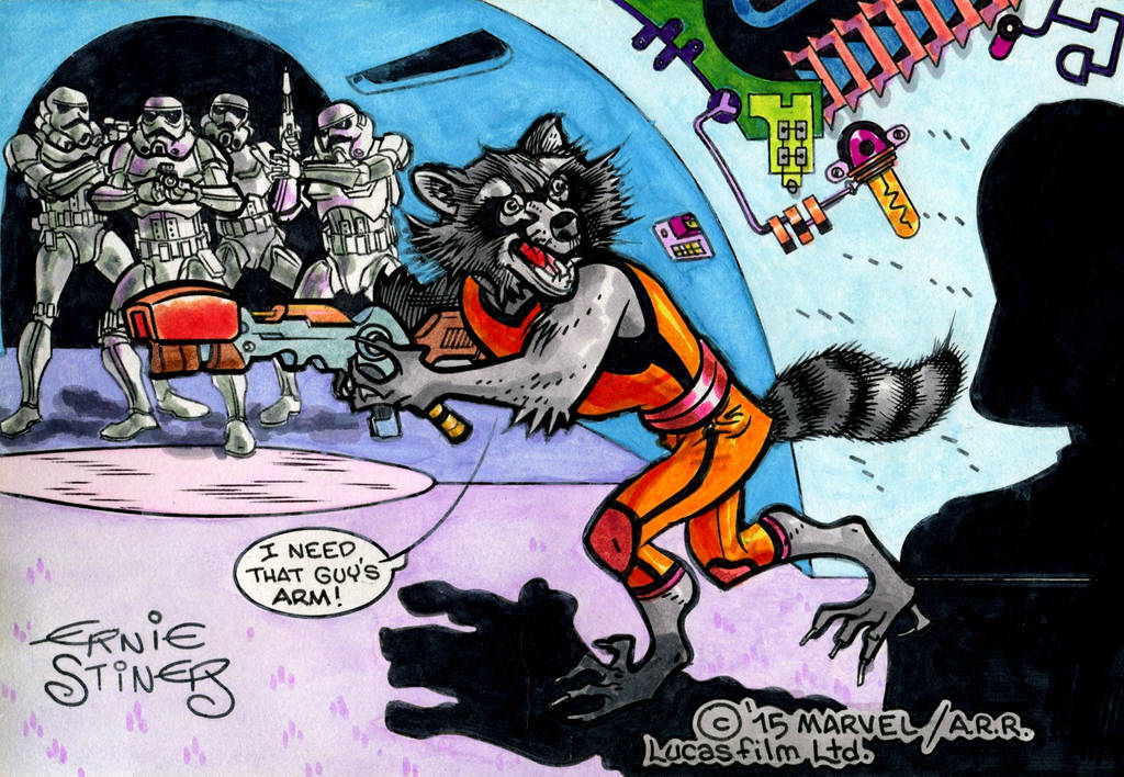 Rocket Racoon needs Vader's arm by EJJS