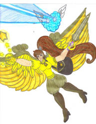 Golden Angel Keiko with Fuzzy Again by Winter-Colorful