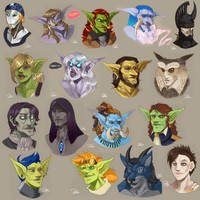 Sketch A Thon Profiles by DOXOPHILIA