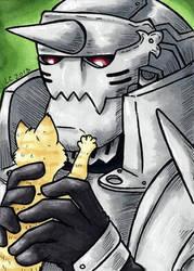 Alphonse and Kitten ATC by hollyann