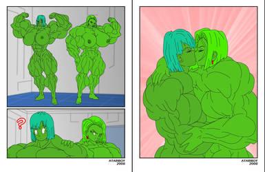 Bulma Hulked Up Android 18. Old FMG Comic 6. by Atariboy2600
